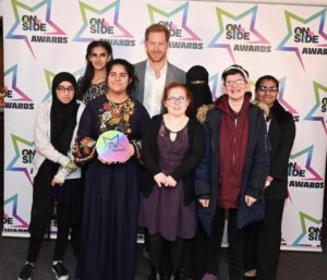 Prince Harry Presents Blackburn Youth Zones Strong Sisters with a Health & Wellbeing Award