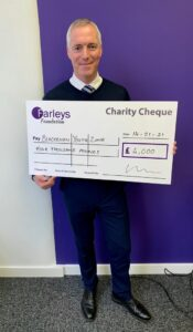 Farleys Solicitors donate £4,000 to Blackburn Youth Zone 'Time to Talk' Campaign