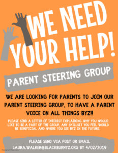 Parents- WE NEED YOU!!