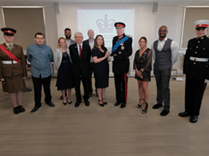 The Lord-Lieutenant presents two Blackburn with Darwen Volunteer Groups with prestigious Queen's Award